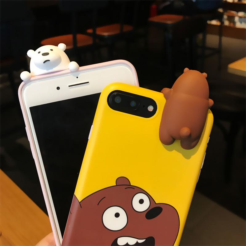 4613118c09a 3D Case Osos Escandalosos Bare Bears Iphone 5/5S/se